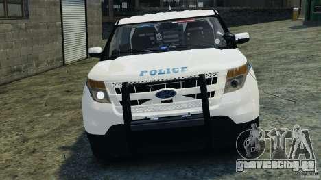 Ford Explorer NYPD ESU 2013 [ELS] для GTA 4 вид сбоку