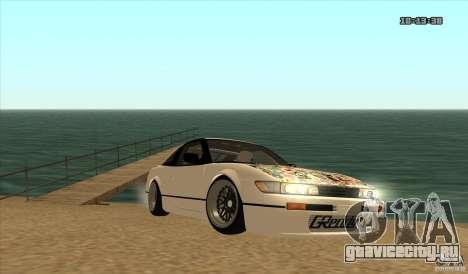 Nissan Sil180 JDM для GTA San Andreas вид сзади слева
