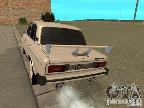 ВАЗ 2106 West Style для GTA San Andreas вид справа