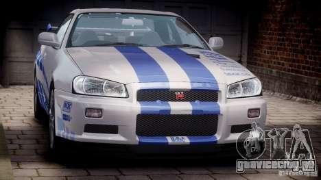 Nissan Skyline GT-R34 FNF для GTA 4