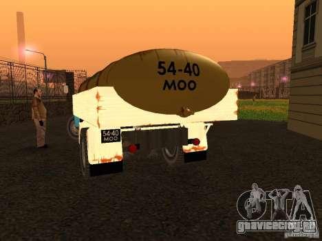 ГАЗ 53 Молоковоз для GTA San Andreas вид сзади слева