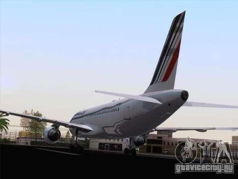 Airbus A320-211 Air France для GTA San Andreas вид сзади