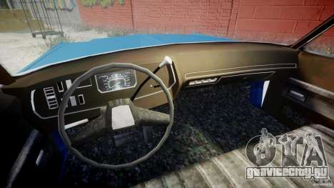 Dodge Monaco 1974 (bluesmobile) для GTA 4 вид изнутри