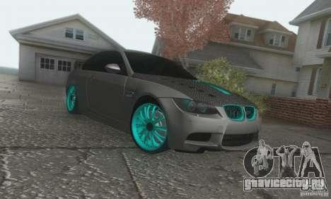 BMW M3 E92 Hellaflush v1.0 для GTA San Andreas вид слева