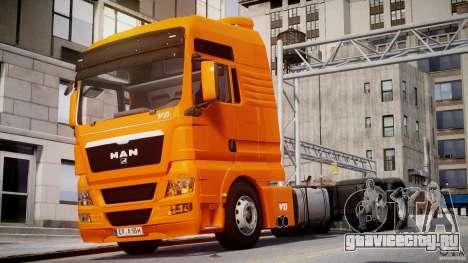 MAN TGX V8 6X4 для GTA 4 вид слева