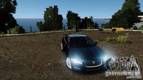 Jaguar XJ 2012 для GTA 4 вид снизу