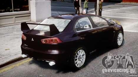 Mitsubishi Lancer X для GTA 4 вид сзади слева