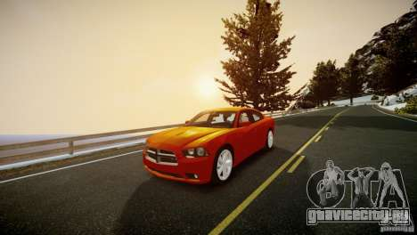 Dodge Charger R/T 2011 Max для GTA 4 вид справа