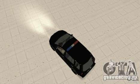 Volkswagen Touran 2006 Police для GTA San Andreas вид сзади слева