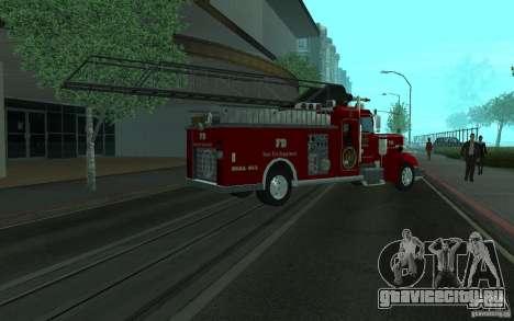 Peterbilt 379 Fire Truck ver.1.0 для GTA San Andreas вид изнутри