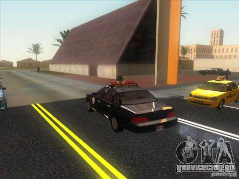 Ford Crown Victoria 1992 Detroit OCP для GTA San Andreas вид сзади слева