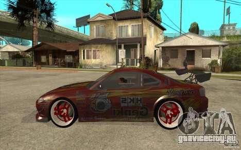 Nissan Silvia HKS Genki для GTA San Andreas вид слева
