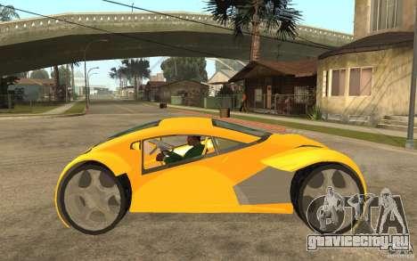 Lexus Concept 2045 для GTA San Andreas вид слева
