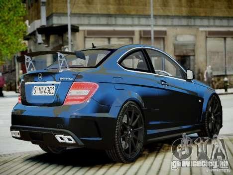 Mercedes-Benz C63 AMG Black Series 2012 v1.0 для GTA 4