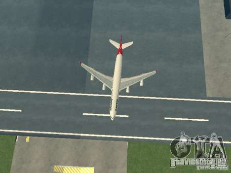 Airbus A340-300 Qantas Airlines для GTA San Andreas вид сбоку
