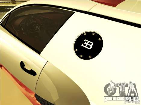 Bugatti Veyron для GTA San Andreas вид сбоку