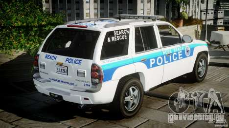 Chevrolet Trailblazer Police V1.5PD [ELS] для GTA 4 вид сбоку