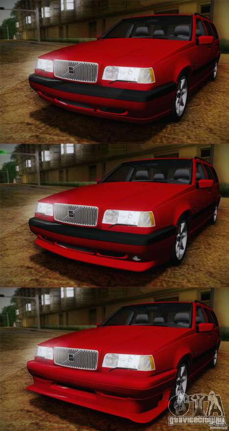 Volvo 850 Estate Turbo 1994 для GTA San Andreas вид сзади