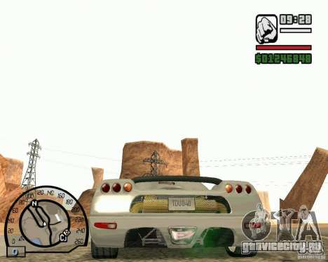 Koenigsegg CC8S для GTA San Andreas вид справа