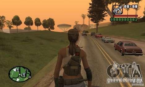 Новая военная девушка для GTA San Andreas четвёртый скриншот