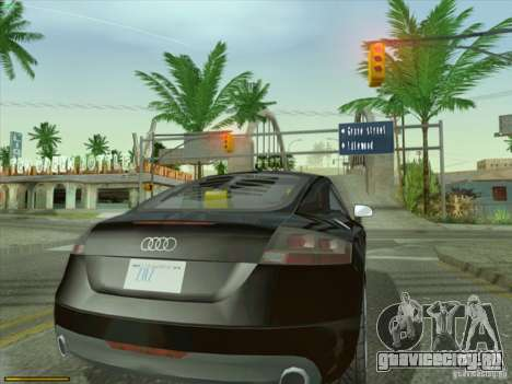Audi TT Custom для GTA San Andreas вид сзади слева