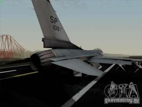 F-16C Warwolf для GTA San Andreas салон