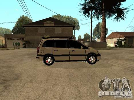 Opel Zafira для GTA San Andreas вид сзади