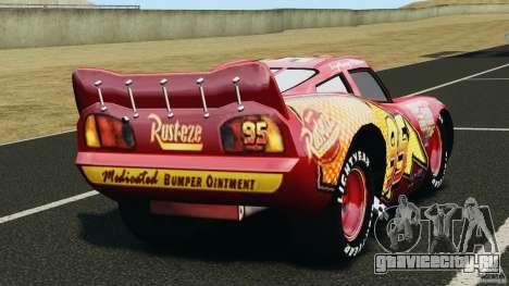 Lightning McQueen для GTA 4 вид сзади слева