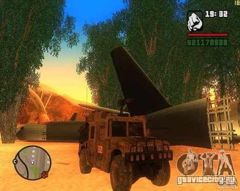 Hummer H1 из COD MW 2 для GTA San Andreas вид слева