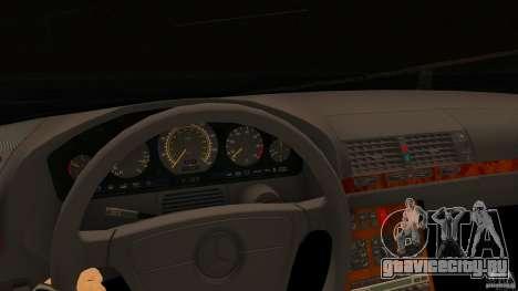 Mercedes-Benz 500SE для GTA San Andreas вид сзади слева