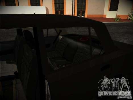 Tofas 124 Serçe для GTA San Andreas вид изнутри