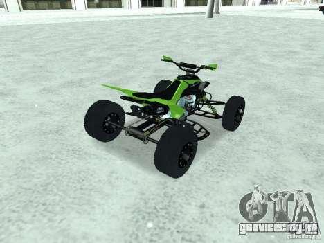 Kawasaki Monster Energy Quad для GTA San Andreas вид слева