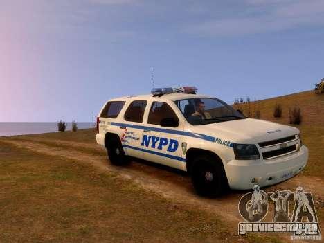 Chevrolet Tahoe New York Police для GTA 4 вид сзади слева