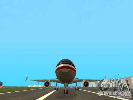 McDonell Douglas MD11 American Airlines для GTA San Andreas вид сбоку