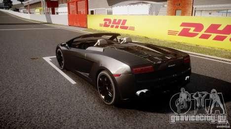 Lamborghini Gallardo LP560-4 Spyder 2009 для GTA 4 вид сзади слева