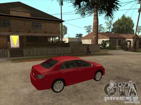 Toyota Corolla 2008 для GTA San Andreas вид справа