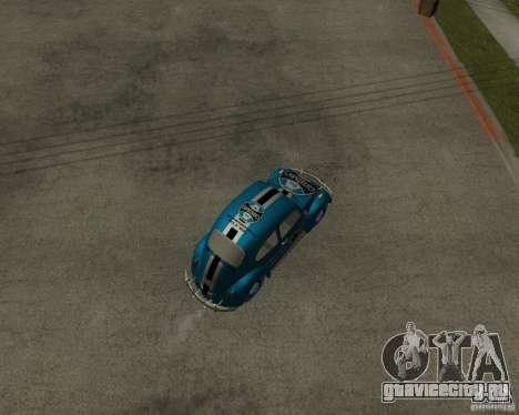 VW Fusca Gremio для GTA San Andreas вид сзади слева
