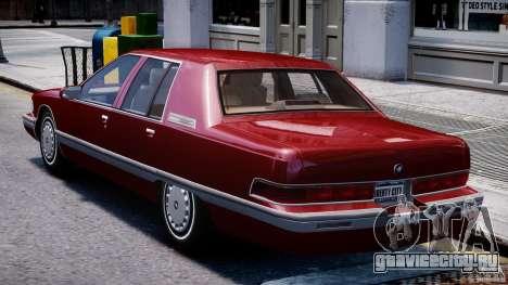 Buick Roadmaster Sedan 1996 v 2.0 для GTA 4 вид справа