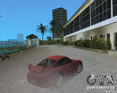 Porsche 911 GT3 для GTA Vice City вид сзади слева