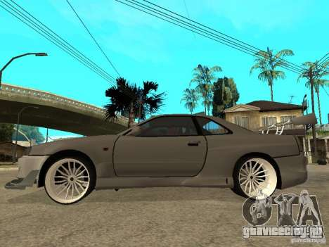 Nissan Skyline R 34 Need For Speed Carbon для GTA San Andreas вид сзади слева