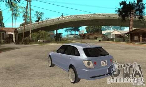 Toyota Alteza Wagon для GTA San Andreas вид сзади слева
