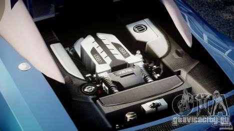 Audi R8 Spyder v2 2010 для GTA 4 вид справа