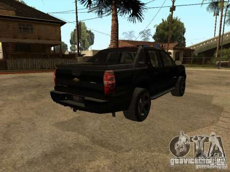 Chevrolet Avalanche Police для GTA San Andreas вид сзади слева