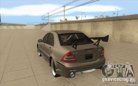 Mercedes-Benz C32 AMG Tuning для GTA San Andreas вид сзади слева