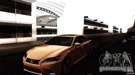 Lexus GS350F Sport 2013 для GTA San Andreas вид сбоку