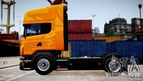 Scania R500 для GTA 4 вид слева
