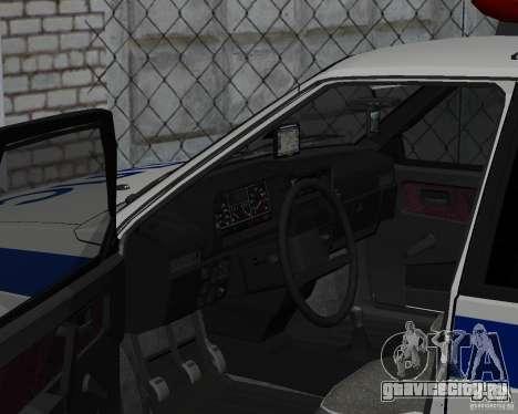 ВАЗ 2109 ДПС для GTA San Andreas вид справа