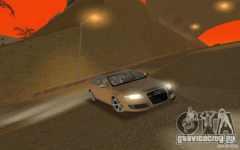 Audi RS6 TT Black Revel для GTA San Andreas вид сзади