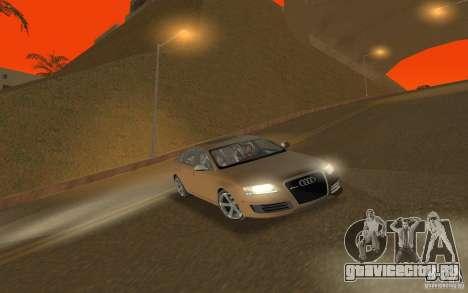 Audi RS6 TT Black Revel для GTA San Andreas вид сзади
