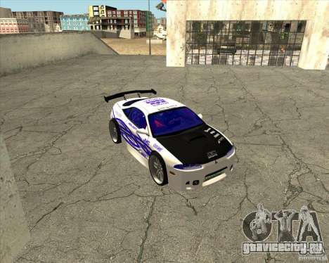 Mitsubishi Eclipse street tuning для GTA San Andreas вид изнутри